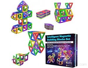 Blocs de Construction Magnétiques – Cadeaux de pour Les Enfants – Blocs de constructions aimantés - Jeux pour garçons et Filles - Créatif et éducatif pour Enfants de 2 3 4 5 6 7 Ans