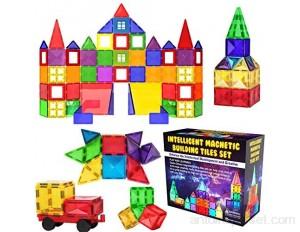 Desire Deluxe Ensemble de Blocs et Briques Magnétiques de Construction - Jouet éducatif pour enfants filles et garçons 3 4 5 6 7 ans - Jeux d'apprentissage de construction 57 pièces