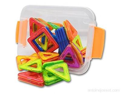 ENFANTS 64pcs magnétique magnétiques blocs de construction blocs Toys-educational Construction empilage Ensembles 3d