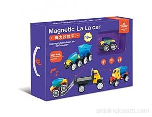 L'ingénierie d'assemblage d'aimant de Jouet des Enfants la Voiture 3D magnétique tôt Enseignant des Blocs de Construction de Tablette magnétique de Puzzle Photo Ensemble de 20 pièces