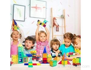 WLHER Blocs Construction Magnétiques Ensemble Blocs Magnétiques 100 Pcs - Jouets Magnétiques Enfants Kit Robuste Super Durable pour Améliorer La Créativité De Vos Enfants
