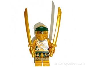 LEGO Ninjago Mini figurine Lloyd - Ninja doré / Ninja doré avec armes bonus