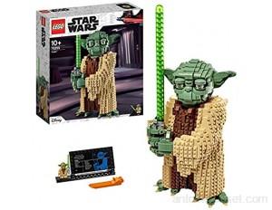 LEGO 75255 StarWars Yoda Ensemble de Construction modèle à Collectionner avec présentoir Collection L'attaque des Clones