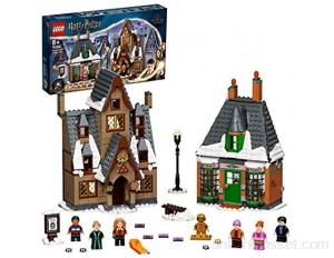 LEGO 76388 Harry Potter Visite du Village de Pré-au-Lard Edition 20ème Anniversaire avec Figurine de Collection Dorée