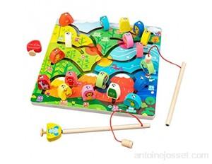 XZMAN Jouet De Jeu De Pêche Alphabet Magnétique pour Les Tout-Petits Jeu De Puzzle Éducatif Précoce Jouet De Pêche Montessori pour Garçons Et Filles De 5 Ans De 3 Ans
