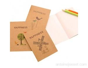 4 Pcs/Pack Cahier De Croquis Mini 40 Pages Kraft Couverture Beau Modèle Cahier Pour Dessin Peinture Durable et pratique