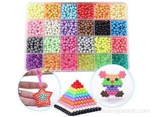 Ourine Lot de 24 perles colorées pour peinture à l'eau - Pour enfants