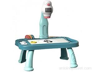 Taitan Bureau à dessin pour enfants avec projecteur jouet éducatif avec 48 copies et table de peinture détachable pour enfant