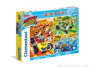 Clementoni - 25227 - Supercolor Puzzle - Mickey and the Roadster Racers - 3x 48Pièces - Disney - version allemande