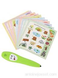 Raguso Cartes d'apprentissage pour Enfants Jeu de Cartes d'apprentissage éducatif Recto Verso avec Stylo électrique pour Enfants de Plus de 3 Ans