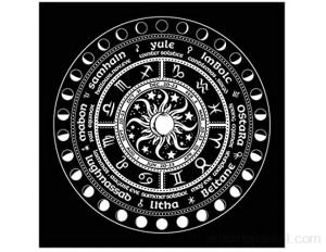 S-TROUBLE 60x60 cm Divination autel Oracle Carte Pad Nappe Jeu de société Fortune Astrologie Flanelle Tissu décoration de la Maison