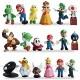 WENTS 18pcs / Set Super Mario Toys Figurines Mario & Luigi Figurines Yoshi & Mario Bros Mario PVC Toy Figures