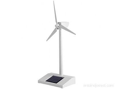 Alvinlite Jouet modèle de Moulin à Vent Solaire - Modèle d\'éolienne de Bureau Moulins à Vent à énergie Solaire Plastique ABS Blanc pour l\'éducation ou Le Plaisir