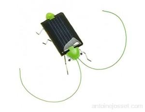 Runfon Energie Solaire Powered Grasshopper/Cricket Solaire Black Power Cockroach Bug Jouet pour Enfants