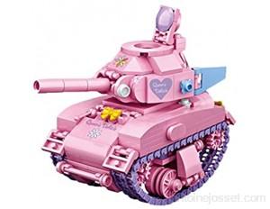 GLLP Puzzle en plastique pour enfant garçon fille de 6 ans Assemblage de petites particules Modèle d'assemblage Mini Tank Car 455 particules Couleur : réservoir