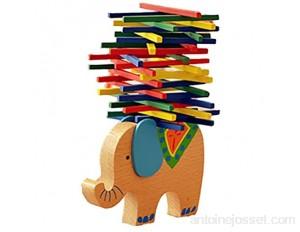 Momola Enfants Montessori Blocs Jouets Éléphant en Bois Équilibre Jeu Jouets Éducatifs Cadeau 12x8x1.5cm