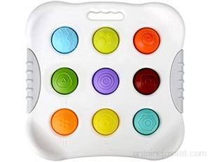 Shanshu Jouet éducatif pour enfant en bas âge jouet de reconnaissance des couleurs anneau de dentition pour enfants