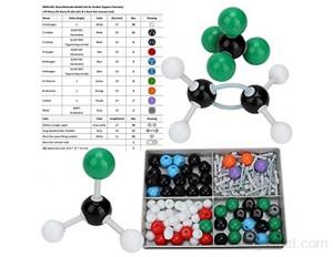 Hztyyier 179pcs Modele Moleculaire Kit Molécules Chimie Organique et iInorganique de modèles de Lien d'atome pour l'étudiant Enseignant