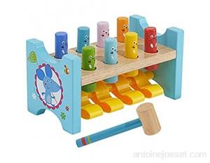 Binghai Marteau en bois et jeu de picots respectueux de l'environnement durable pour les enfants de plus de 12 mois