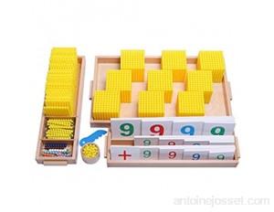 Yx-outdoor Jouets éducatifs de Jeu de Banque Montessori opération d'apprentissage des mathématiques décimales Maternelle Enfants International Perles d'or Aides pédagogiques
