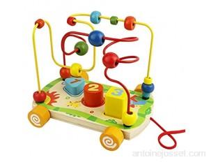 Boulier Labyrinthe Circuit de Motricité Boulier Montessori Bebe Jouet Bois Jeux Educatif 18 Mois Fille Garcon et Plus