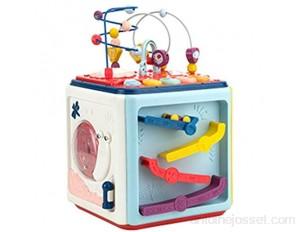 SuDeLLong Activité Cube Activité Centre Multifonction Perle Maze Jouet Jouet Jouet Coaster Preschool Toys Éducatifs Toys Cadeau pour Enfant Enfants Garçons Filles Labyrinthe de Perles Amovible
