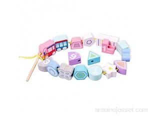 YLiansong-home Activité Cube Perle Maze Bead Maze Jouet Jouet Roller Coaster Preschool Jouets Éducatifs précoces Cadeau pour Enfant Enfants garçons Filles Cube d'activité en Bois