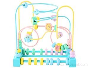 Huangjiahao Jouet Cube d'activité Maze Roller Coaster Activité Cube éducation Abacus Perles Jouets Cercle Jeu Activité coloré Cadeau for Les Enfants pour Cadeau Enfant en Bas âge