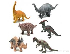 6Pcs Dinosaur Toy for Kids Mini Dinosaur Toys Miniature Figures Dinosaur Playset with Tyrannosaurus Stegosaurus Diplodocus Toy Set