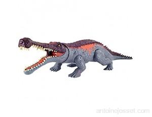 Jurassic World Méga Morsures grande figurine dinosaure articulé Sarcosuchus jouet pour enfant GVG68
