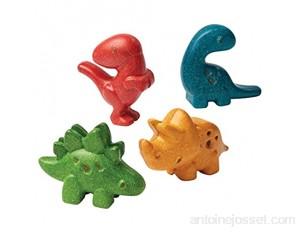 PLAN TOYS - Figurines - 4 Dinosaures - Bois - PT6126