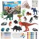 Ulikey Kit de Peinture de Dinosaures 35 Pièces L'ensemble de Peinture de Dinosaure Jouets de Dinosaure Bricolage Dinosaure à la Main Peinture Dinosaure pour Enfants Cadeau Créatif pour Noël
