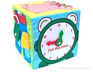 Habillage quotidien de bébé Aide à l'enseignement de l'apprentissage de la vie aides pédagogiques pour les tout-petits jouet d'apprentissage d'activité cubique - fermetures à glissière boucles