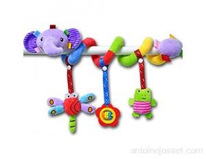 KLOVA Éléphant Dessin animé Poussette Arc hochets Suspendus Mignon Animaux en Peluche Style lit Autour pour bébé éducation Jouet Spirale Enrouler Autour du lit de bébé