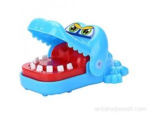 Jouet amusant en forme de bouche de crocodile - Jouet amusant pour enfants - Bleu