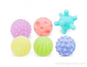 6 Pcs Bébé Texturé Multi Balle Multi-Touch Texturé Sens Toucher Boule de Formation Jouet Jouet Cadeau pour les Enfants