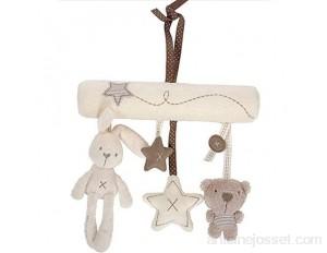 Beau lapin bébé doux Hanging Rattle Musique Bébé Jouets Hanging Activité Spirale Jouets Hanging poussette bébé Jouets en peluche