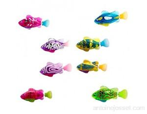 Poisson Électronique Fish Robot - 8 Pièces Nouveau Bébé Jouet de Bain Poisson Jouet Eau Activé Alimenté Par Batterie Poisson Robot pour bébé Chat Jouets de bain