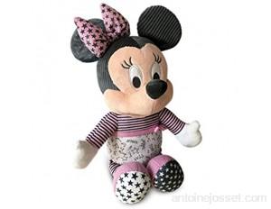 Clementoni Disney Baby Minnie-veilleuse Musicale et Lumineuse-Peluche Lavable en Machine 6 Mois et Plus 17395 Multicolore
