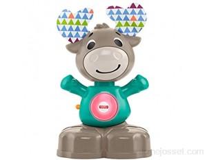 Fisher-Price Linkimals Nathan l'élan jouet bébé interactif sons et lumières version française 9 mois et plus GJB20