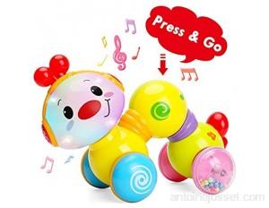 TINOTEEN Jouets pour bébé Tout-Petit Musical Chenille Rampant Jouet pour bébés Tout-Petits 6 9 12 18 Mois