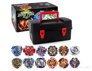 Beyblade Toupies Toupie Burst Turbo avec Lanceurs Gyro Pocket Box Pro-Cadeaux pour Enfant Non-Stop Battle Deluxe Hasbro Beyblade Burst Turbo Starter Pack Toupie et Lanceur Slingshock