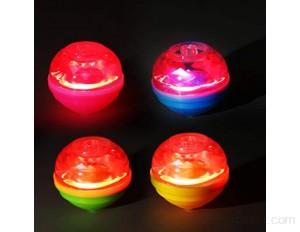 Ulikey 8 Pcs La Toupie Gyroscope Lumineux Coloré Gyroscope Clignotant pour Enfants Jouet Gyroscopique à La Main Enfants fête d'anniversaire Faveurs Lanceur Jouets Jouets pour Enfants