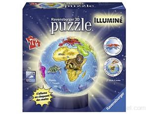 Ravensburger - Puzzle 3D Ball 72 p illuminé - Globe - 12184