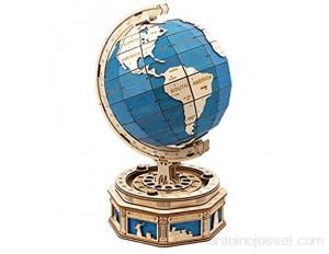 Robotime Le Globe Puzzle 3D 567 pièces en Bois Auto-Assembler Kits de modèle de Construction de Puzzle avec casier Secret décoration de la Maison Cadeau pour Enfants et Adultes
