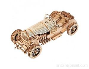 ROKR Puzzle Bois 3D Voiture pour Adultes Enfants de Plus 14 Ans Maquette en Bois a Construire Cadeau de Kit 220 Pièces Grand Prix Car