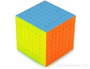 TOYESS Cube Magique 7x7 Stickerless Speed Magic Cube 7x7x7 Jouet Cadeau Emballage pour Enfants et Adultes sans Autocollant