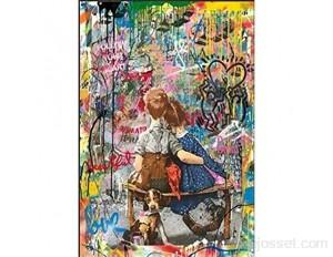 Puzzle Adulte 1000 Pièces Dessin de Rue Cadeau Bricolage Puzzle Classique 3D Puzzle Jouet en Bois Cadeau Unique Décoration Intérieure 75x50cm