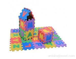 36pcs chiffres et lettres de tapis de jeu en mousse souple bébés enfants enfants jouant des jouets de coussin rampant pour bébés familles chambres etc