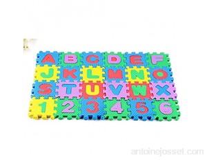 Le tapis de jeu puzzle est sans danger pour les enfants et le fond en mousse souple protège le tapis de jeu des enfants.